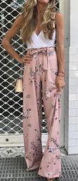 pastel wide pants