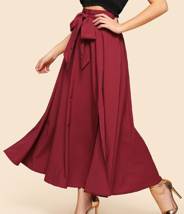 Burgandy skirt
